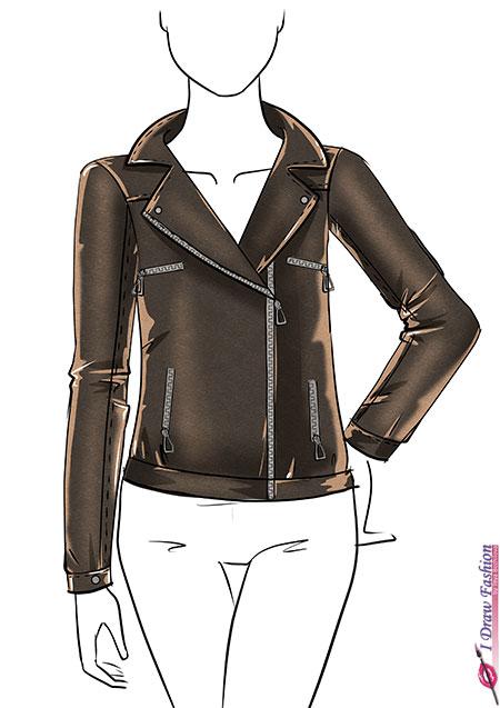 450x637 Draw A Leather Jacket I Draw Fashion