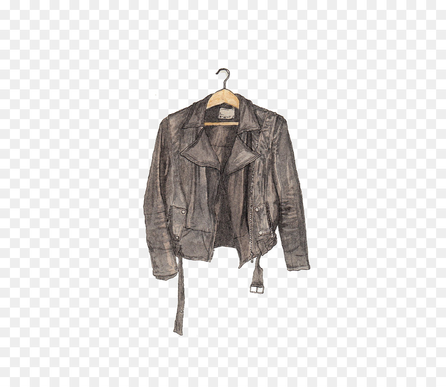 900x780 Watercolor Painting Drawing Leather Jacket Illustration