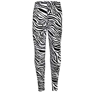 385x385 Girls Legging Kids Animal Zebra Print Stylish Fashion Leggings 7 8