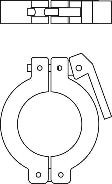 368x600 Kurt J. Lesker Company Kf (Qf) Lever Clamps (Aluminum Amp Polymer