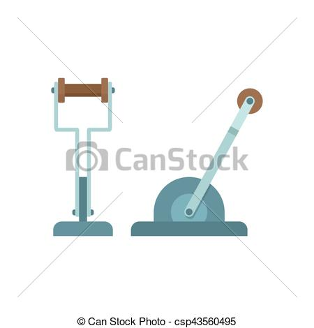 450x470 Mechanical Lever Machine Part. Mechanical Lever, Flat Vector