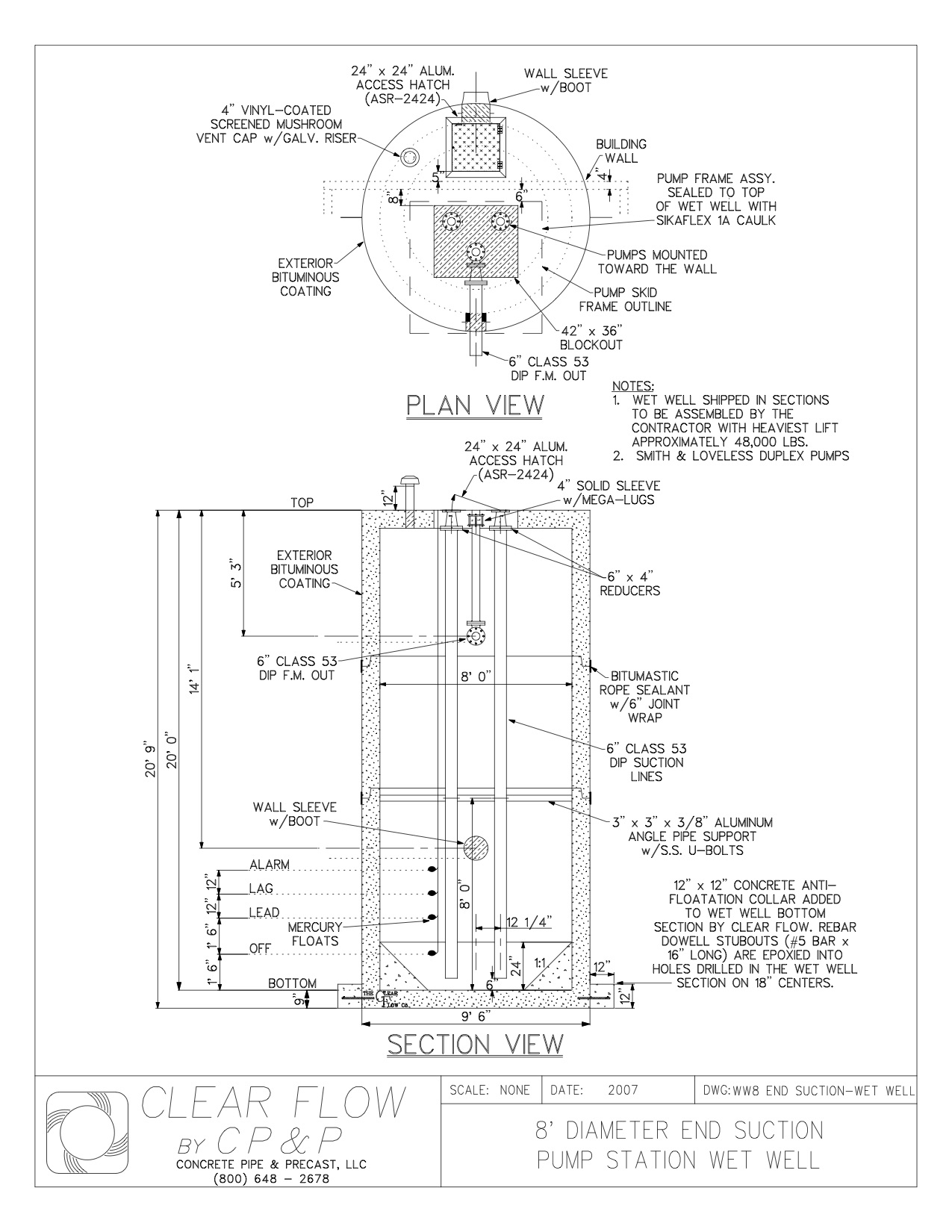 1275x1650 Concrete Pipe Amp Precast Drawings