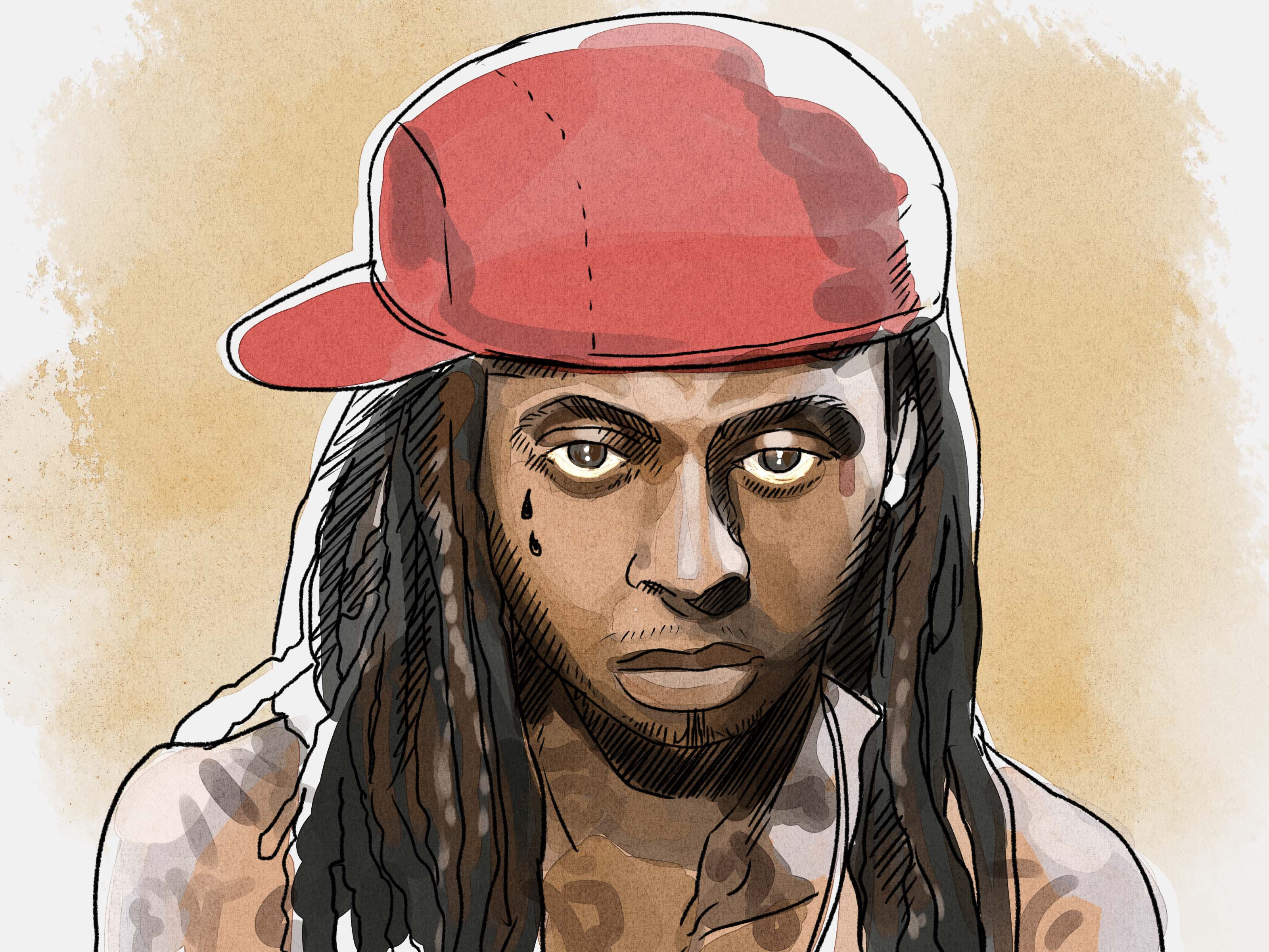 3200x2400 How To Draw Lil Wayne 13 Steps (With Pictures)