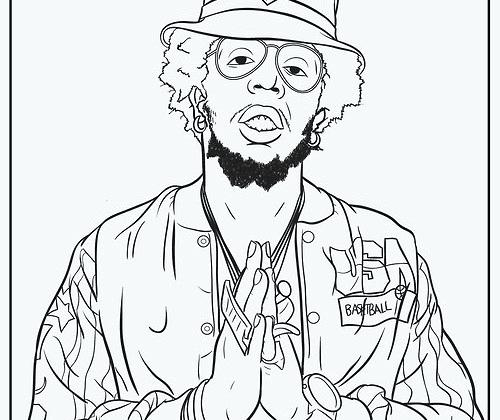 500x420 Entrancing Lil Wayne Coloring Pages Printable To Cure Magnificent