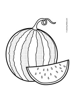 236x330 Watermelon Coloring Page Download Free Watermelon Coloring Page