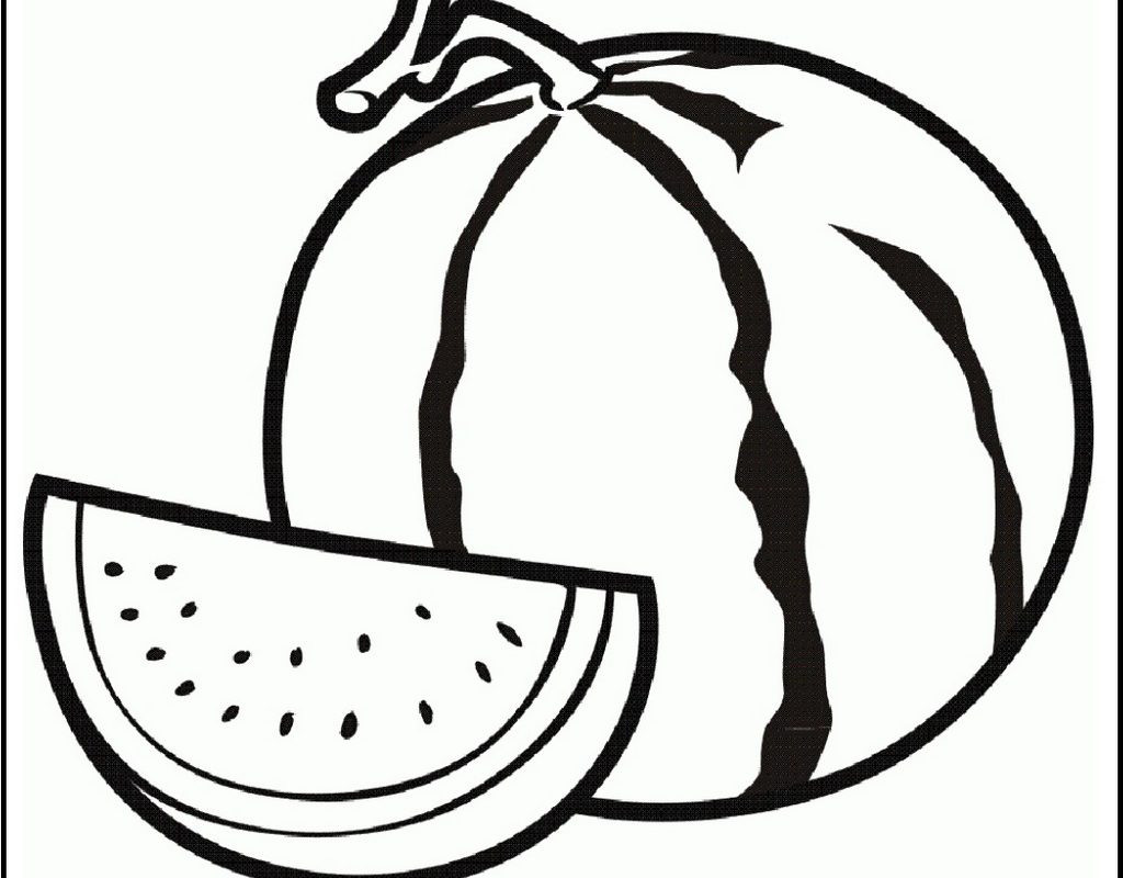 1024x800 Watermelon Line Drawing At Getdrawings Com Free For Personal Use