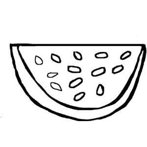 300x300 Watermelon Clipart Outline