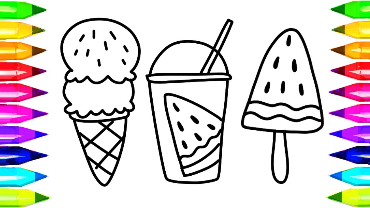 1280x720 How To Draw Watermelon Amp Juice Coloring Pages Kids Songs Learn