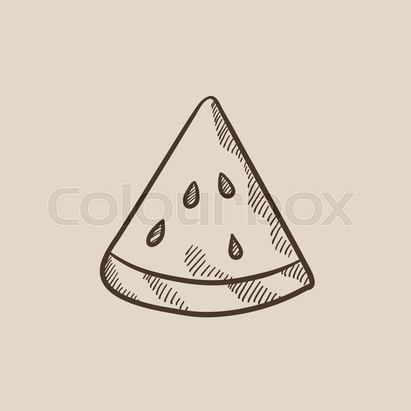 800x800 Watermelon Sketch Icon For Web, Mobile And Infographics. Hand