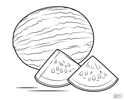 400x322 Melon Drawing For Kids. Cheap Letter M Coloring Abcus Free