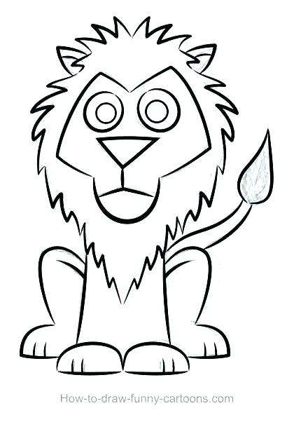 420x602 Lion Head Outline Drawing Best Small Lion Tattoo Outline Images