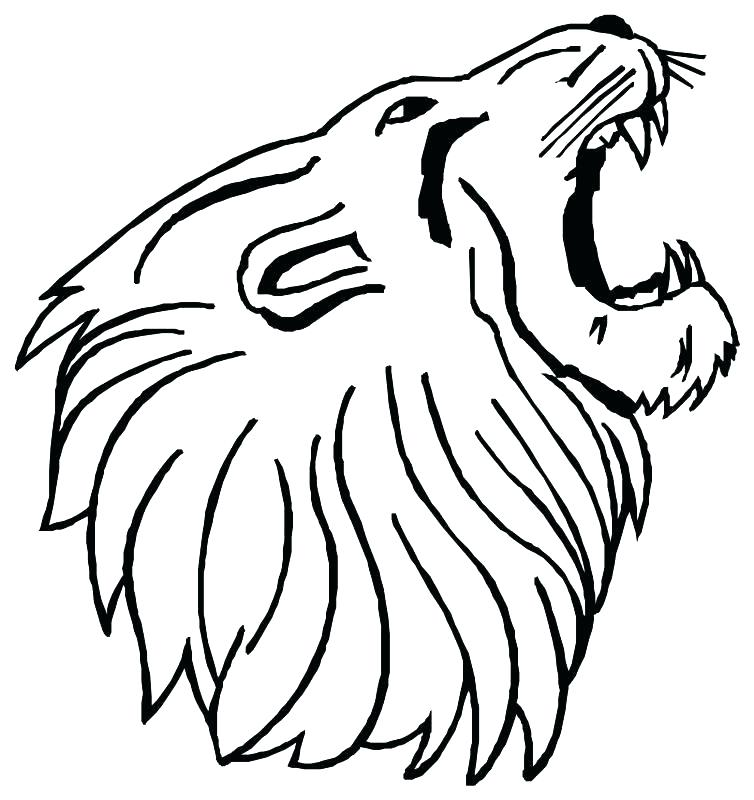 754x800 Lion Outline Drawing Download Lion Face Outline Drawing Free