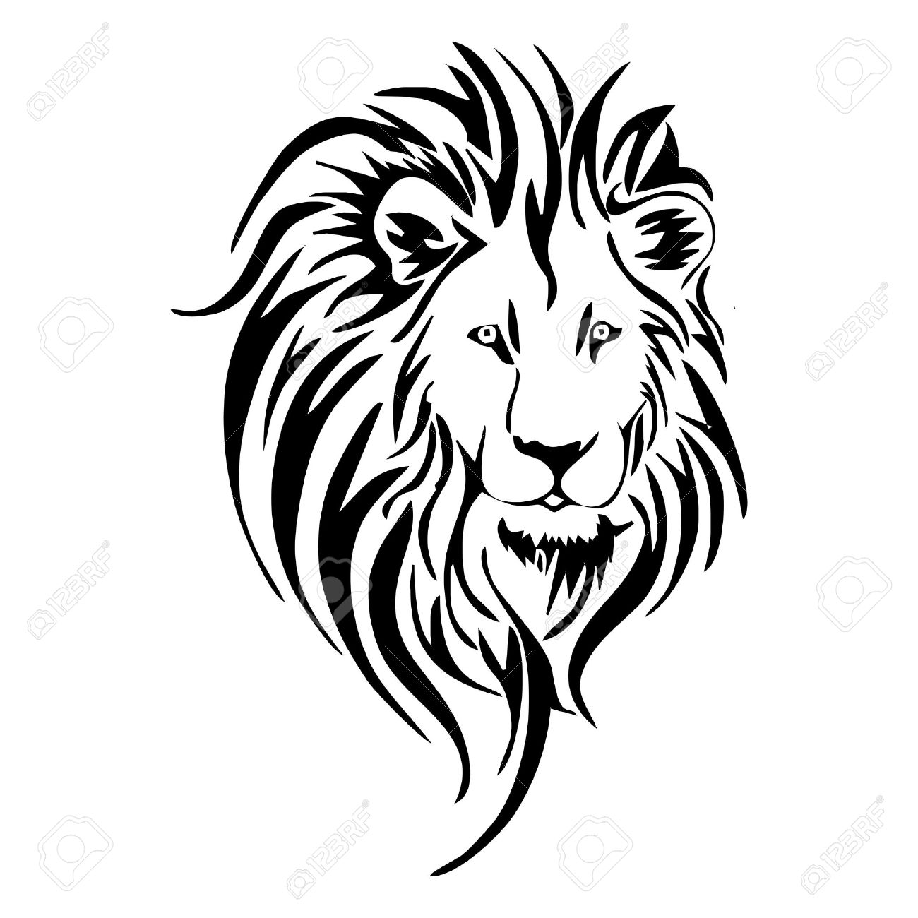 1300x1300 Lion Head Clipart For Kids Black And White