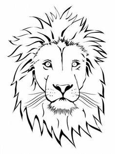 236x315 Lion Head Outline Tattoo