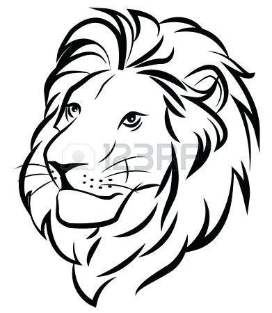 391x450 Drawing A Lion Cartoon Lion Cartoon Lion Pencil Drawing Outline