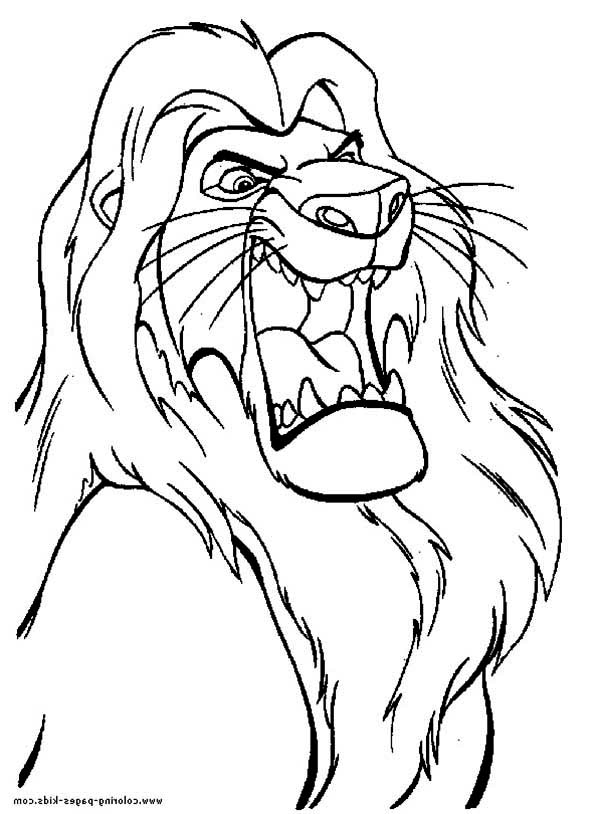 600x814 Lion King Coloring Pages Mufasa Free Library
