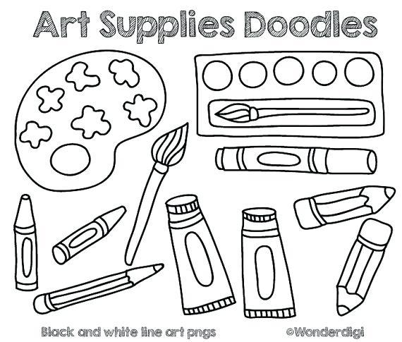 570x485 Art Supplies Clipart
