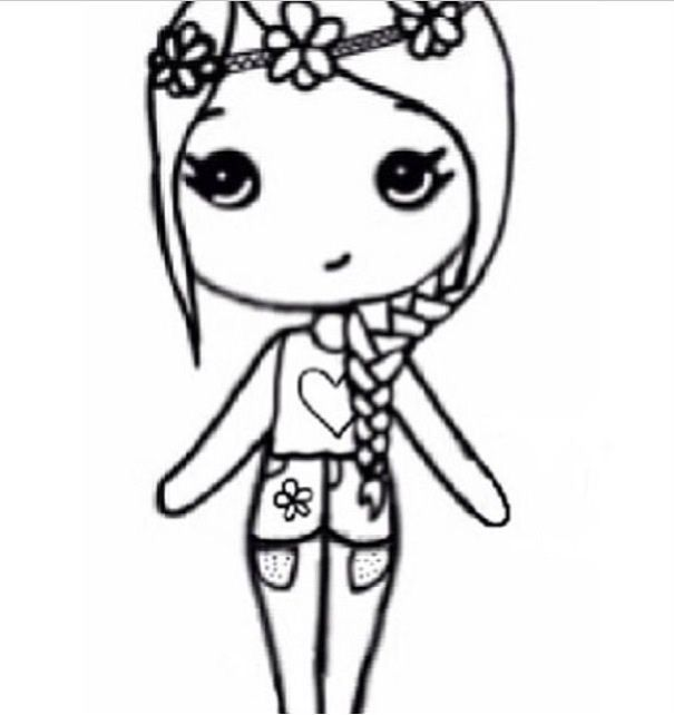 Little Girl Drawing Easy at GetDrawings.com | Free for personal use ...