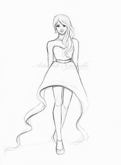 Little Girl Drawing Easy At Getdrawings Com Free For Personal Use