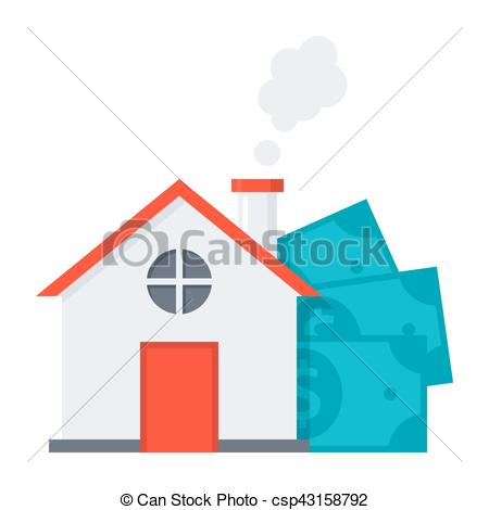 450x470 Mortgage Loan Concept. Concept Of Mortgage Loan Like A House