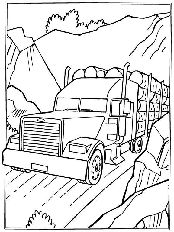 Log Truck Drawing At Getdrawings Com