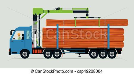 450x249 Log Truck.eps. Truck Carrying Trunk Of Tree On Truck Using