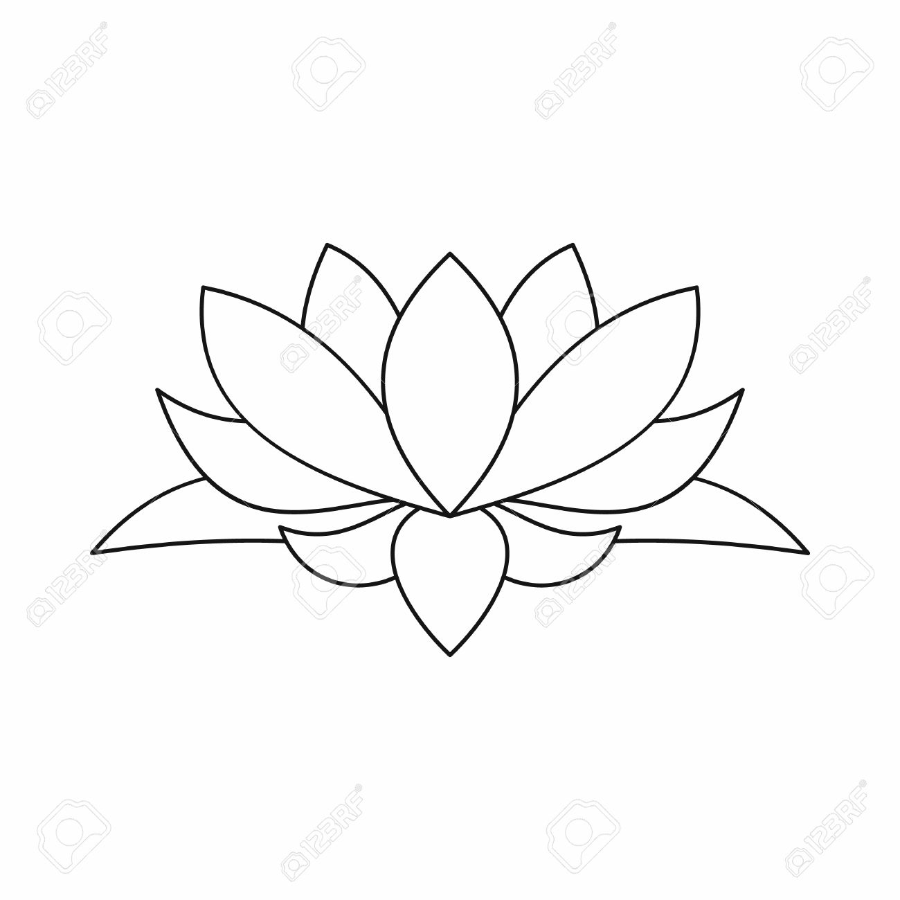 Lotus flower drawing pictures at getdrawings free for personal 1300x1300 lotus flower outline drawing izmirmasajfo
