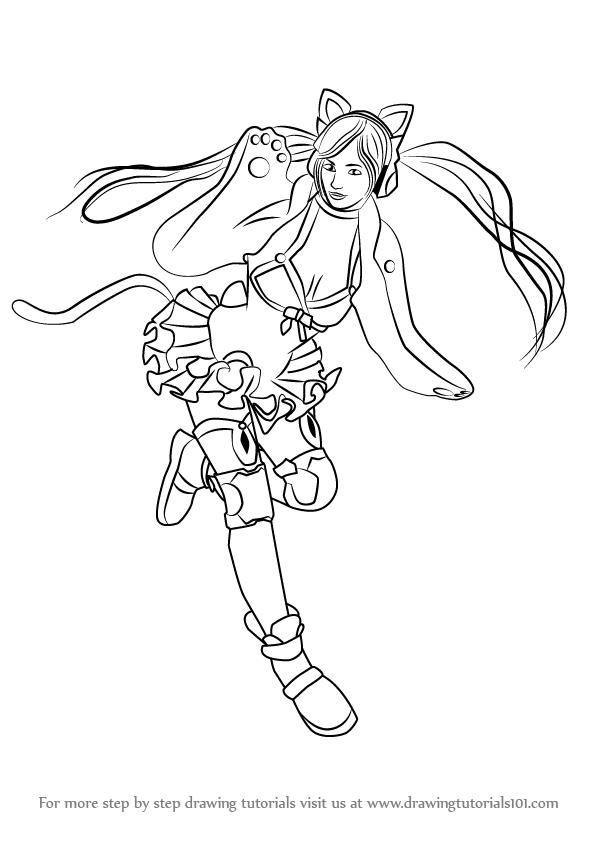 596x842 Learn How To Draw Lucky Chloe From Tekken (Tekken) Step By Step