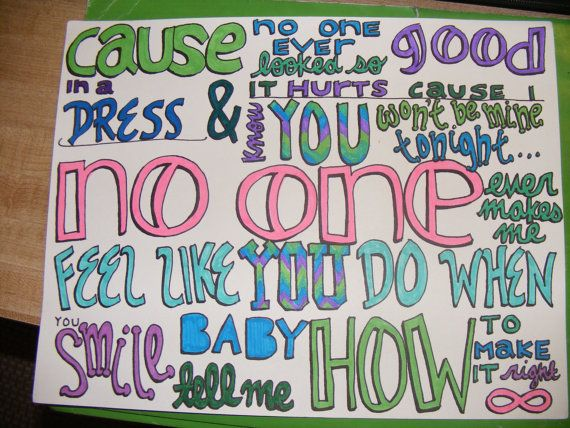 570x428 Nobody Compares Lyric Drawing By Taylorandemilysetsy On Etsy
