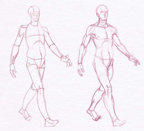 585x530 Male Art Model Poses For Life And Figure Drawing Demos