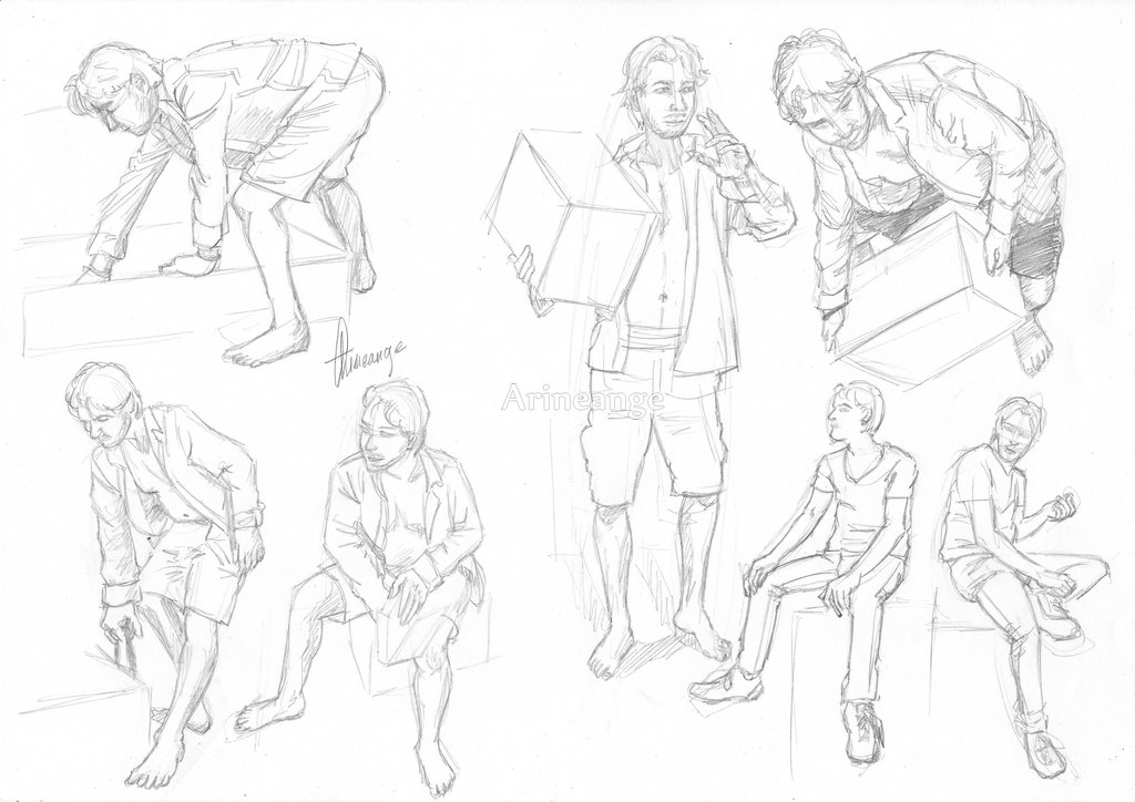 1024x724 Male Pose Study 2 By Arineange