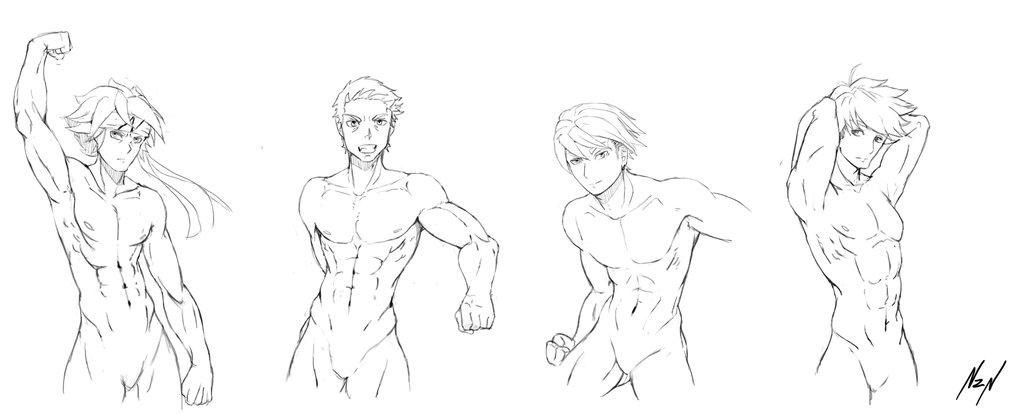 1024x414 Tutorial Body Men Anatomy Poses On Drawing Tutorial