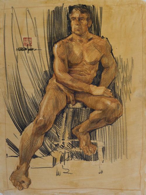 500x668 Graham Smith Illustration Blog Life Drawing Workshop Muscular Male