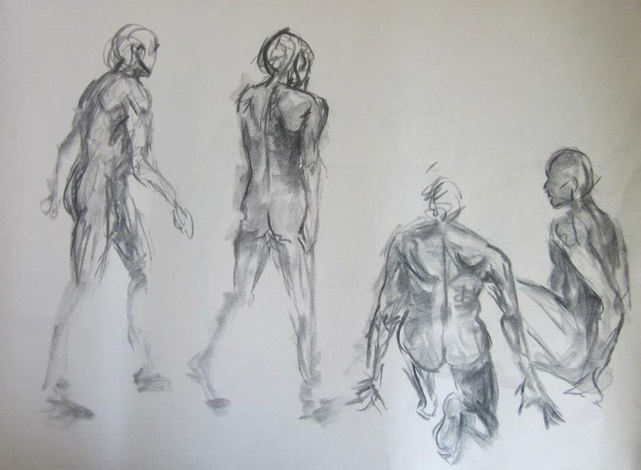 900x660 Gesture Figure Drawing Male 5 By Annathomas2012