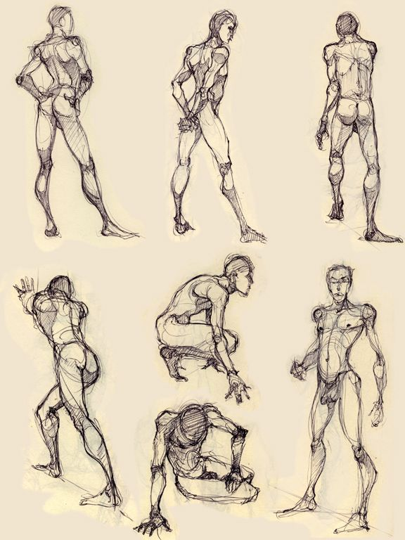 Male Figure Drawing Poses At Getdrawings Free For Personal Use