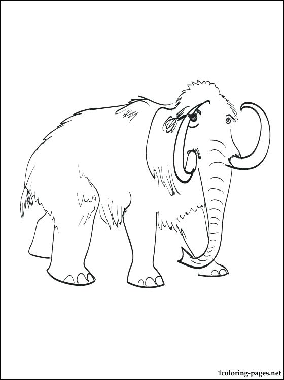 560x750 Mammoth Coloring Page Ice Age Rhino Coloring Page Mammoth Coloring