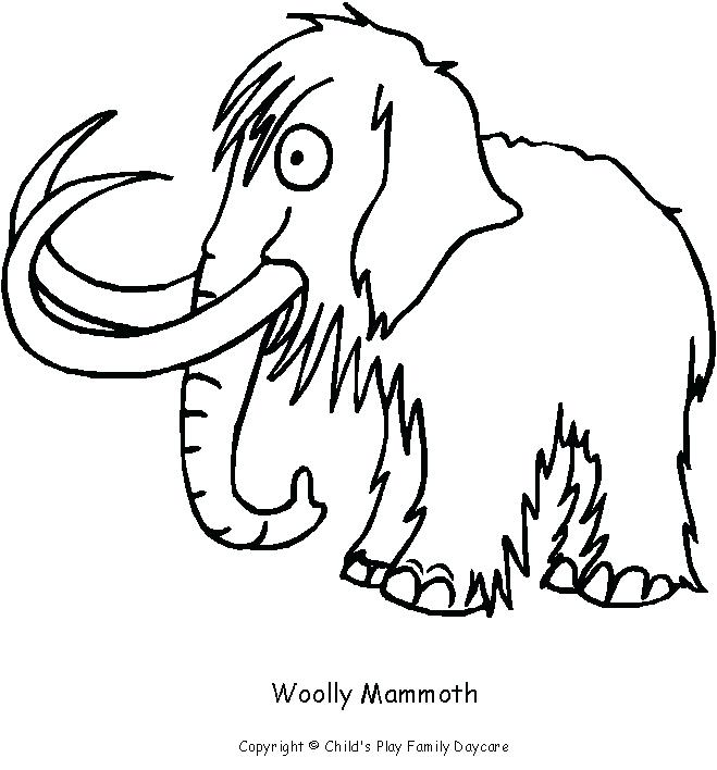 659x708 Mammoth Coloring Pages Wooly Mammoth Colouring Page