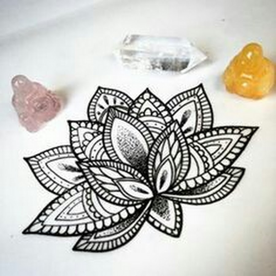 Mandala Lotus Flower Drawing At Getdrawings Com Free For Personal