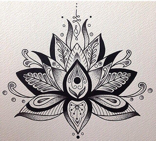 Mandala lotus flower drawing at getdrawings free for personal 640x578 unalome and lotus flower flower tattoos pinterest unalome mightylinksfo