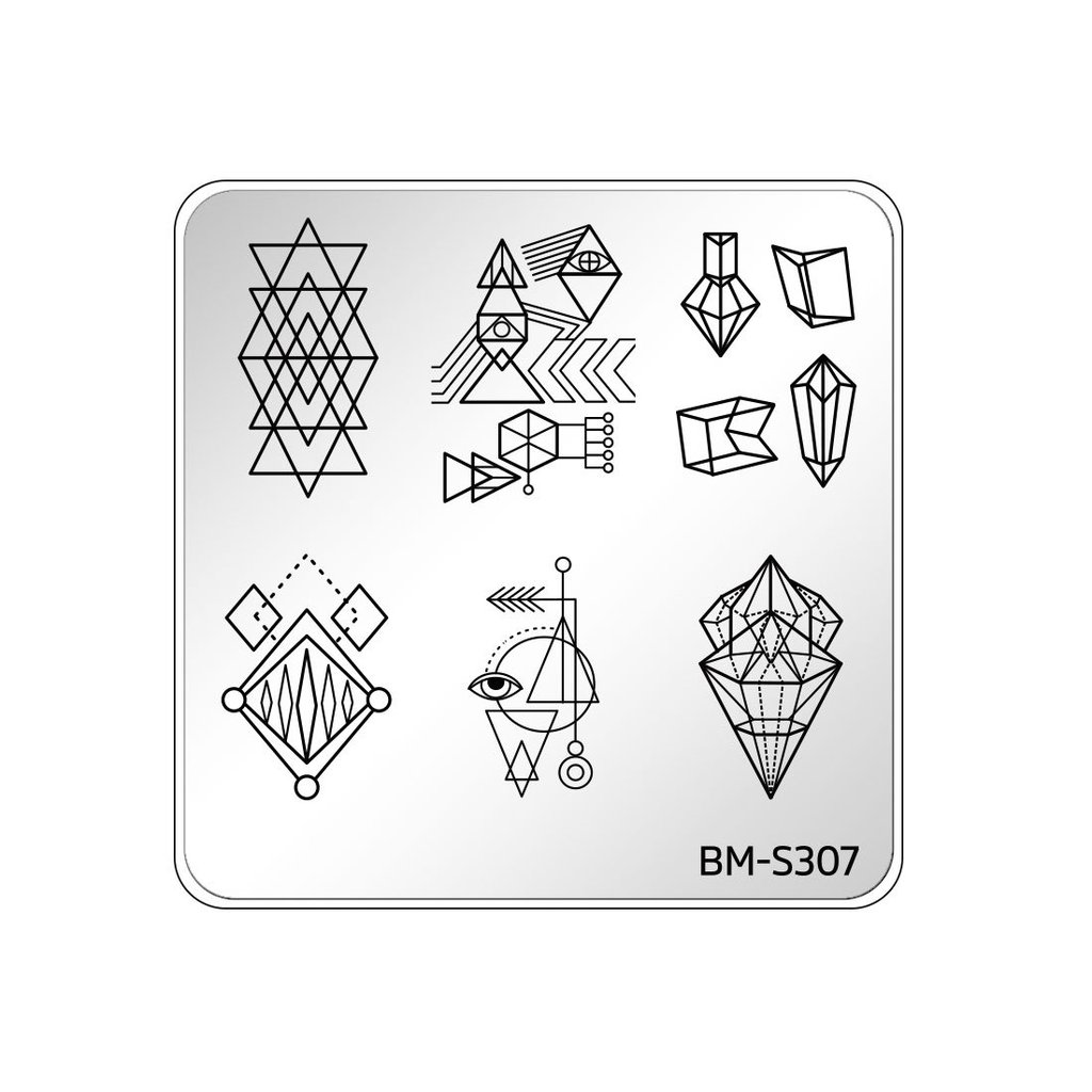 1024x1024 Festival Nail Art Manicure Stamping Plate
