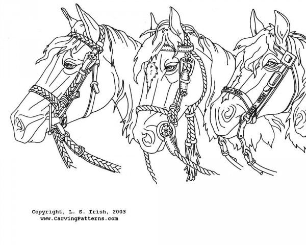 600x480 Wood Burning Patterns Free Western Horses Mantel Pattern Package