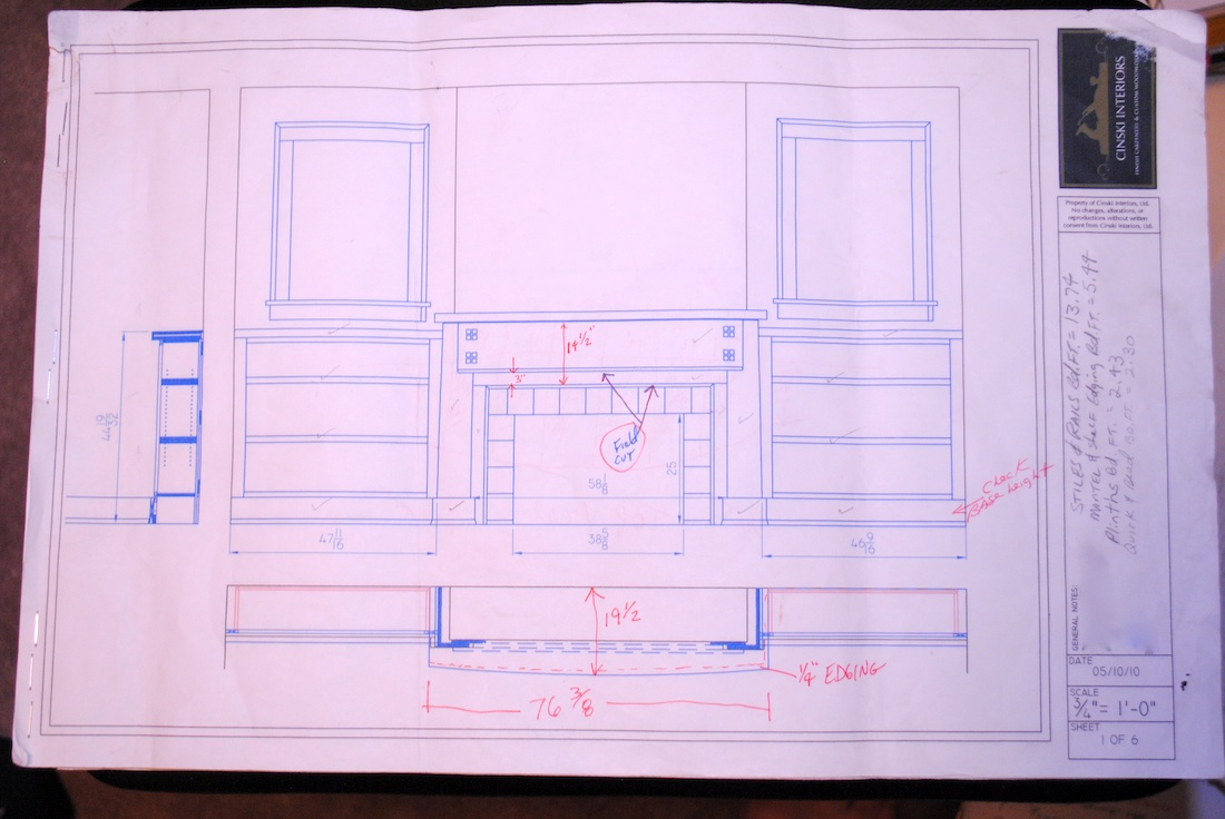 1100x736 Craftsman Style Mantel Amp Bookcases Thisiscarpentry