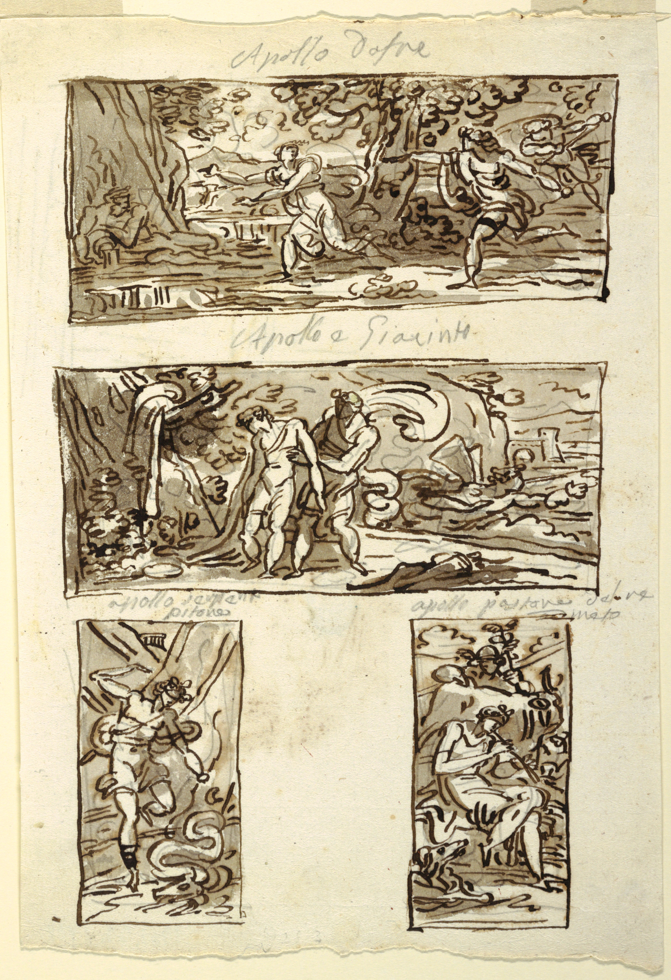 2804x4095 Filedrawing, Four Drawings The Mythpollo Decoration