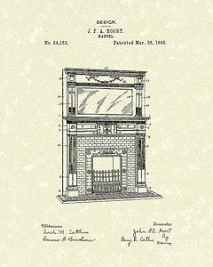 240x300 Fireplace Mantel Drawings Fine Art America