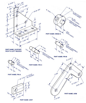 337x400 Prin 617 Working Drawings (Manufacturing Drawings)