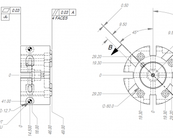 350x280 Assembly Drawing Of An Electromechanical Press Frame Ese Llc