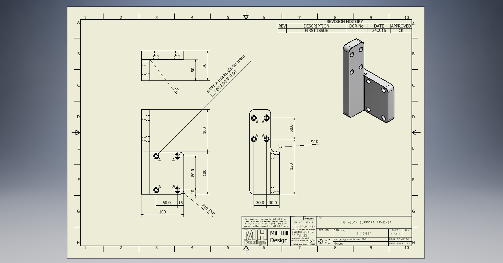 1672x876 Simple Manufacturing Drawing By Millhilldesign On Cad Crowd
