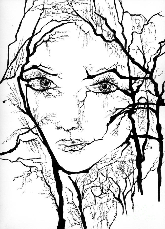652x900 One Of Gaia's Many Faces Drawing By Patrick Macpherson