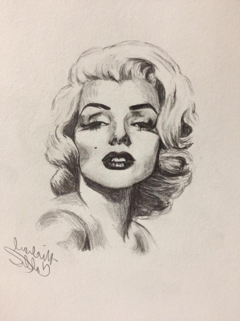 768x1024 Drawing Of Marilyn Monroe Drawn Face Marilyn Monroe