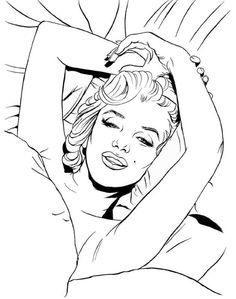 236x299 Free Printable Fantasy Pinup Girl Coloring Pages